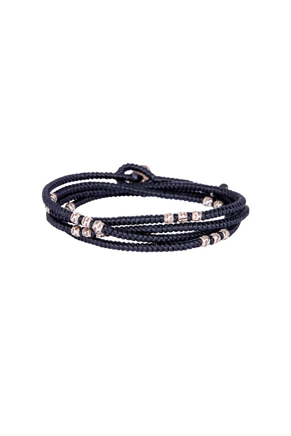 M. Cohen Black Knitted Wrap Bracelet