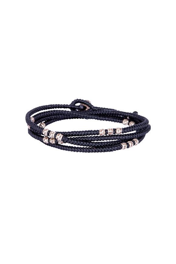 M. Cohen Black Knitted Wrap Bracelet