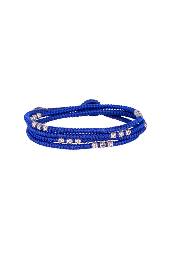M. Cohen Royal Blue Knotted Wrap Bracelet
