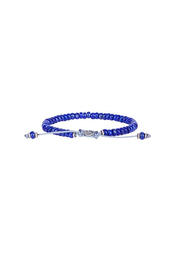 M. Cohen Blue Lapis Knotted Gemstone Bracelet