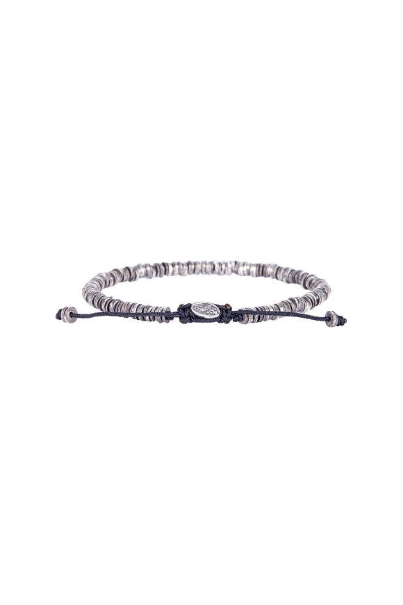 M. Cohen Oxidized Silver Disc Bracelet
