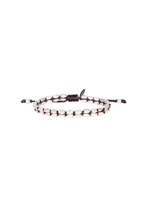 M. Cohen Sterling Silver Beaded Bracelet