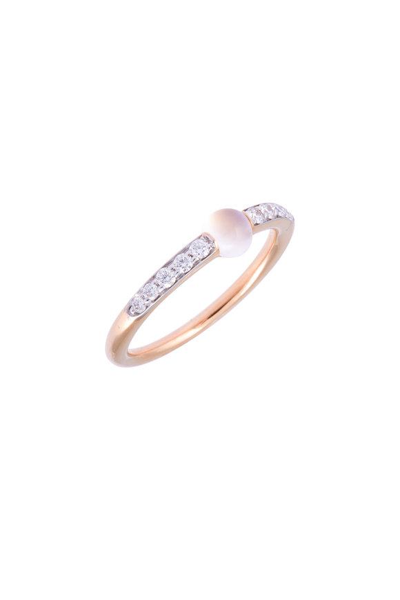 Pomellato 18K Rose Gold Moonstone & Diamond Ring