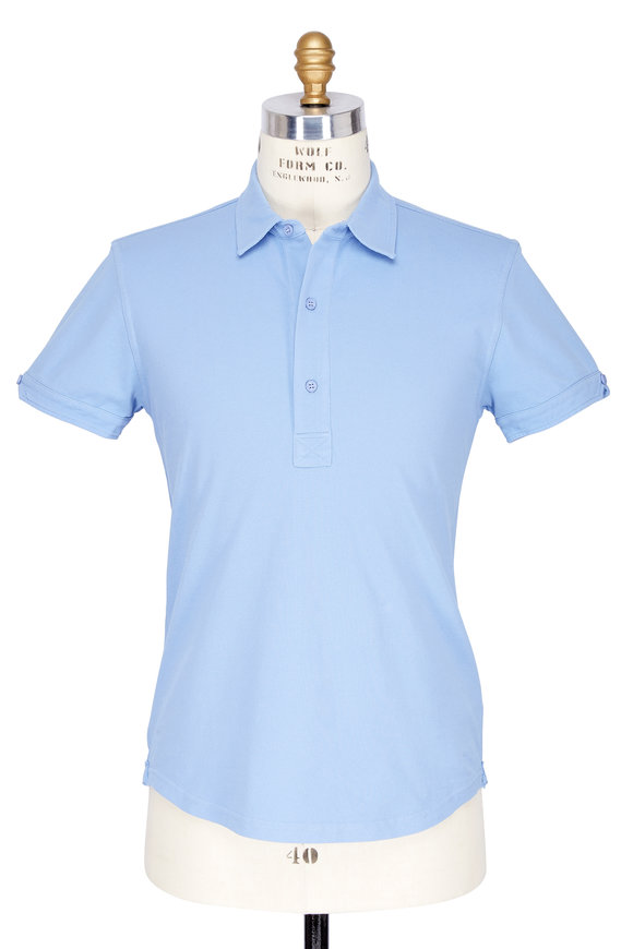 Orlebar Brown Sebastian Blue Ash Tailored Fit Polo