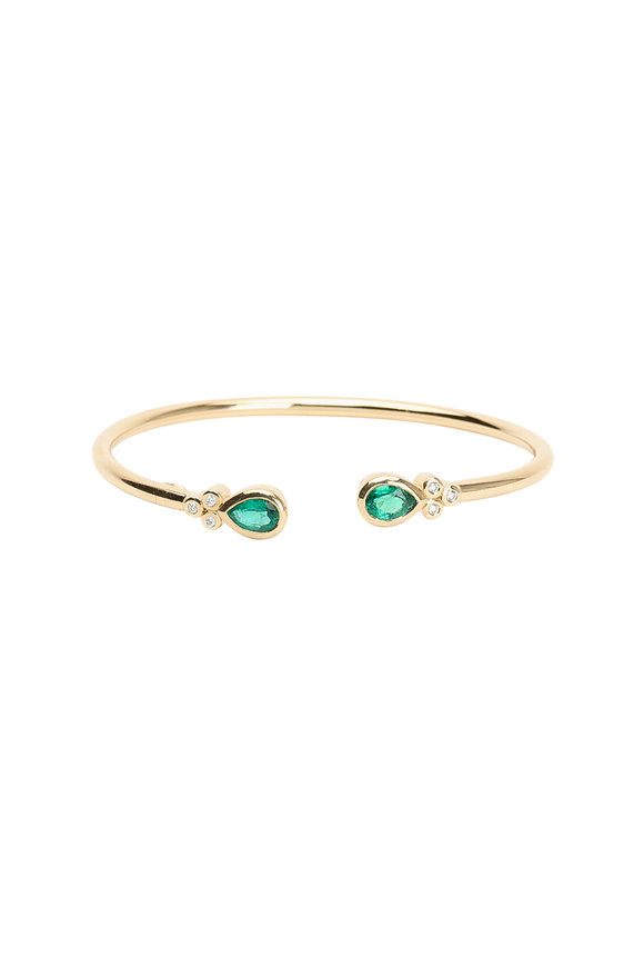 Temple St. Clair 18K Yellow Gold Emerald Bangle