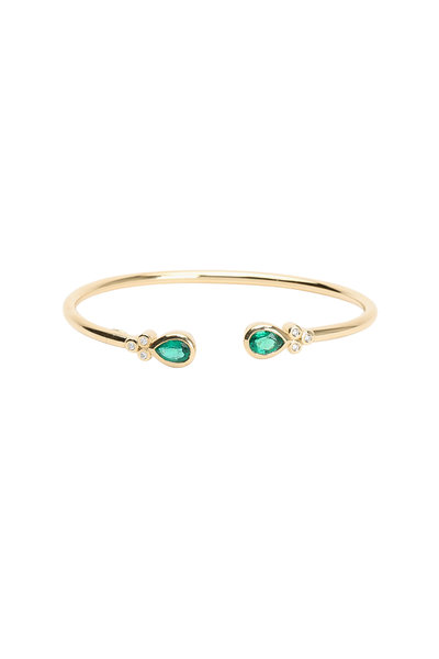 Temple St. Clair - 18K Yellow Gold Emerald Bangle