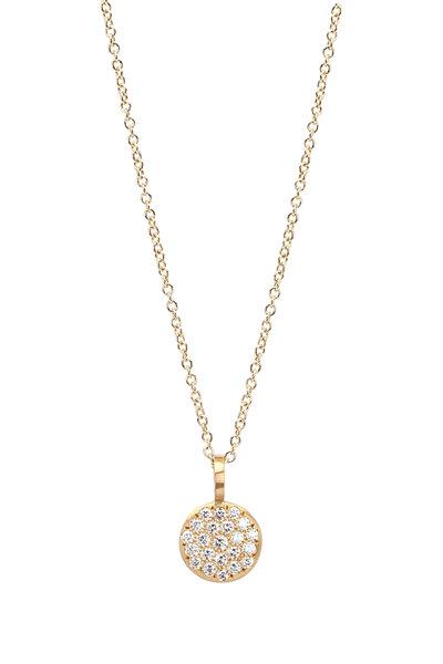 Caroline Ellen - 20K Diamond Pave Pendant Necklace