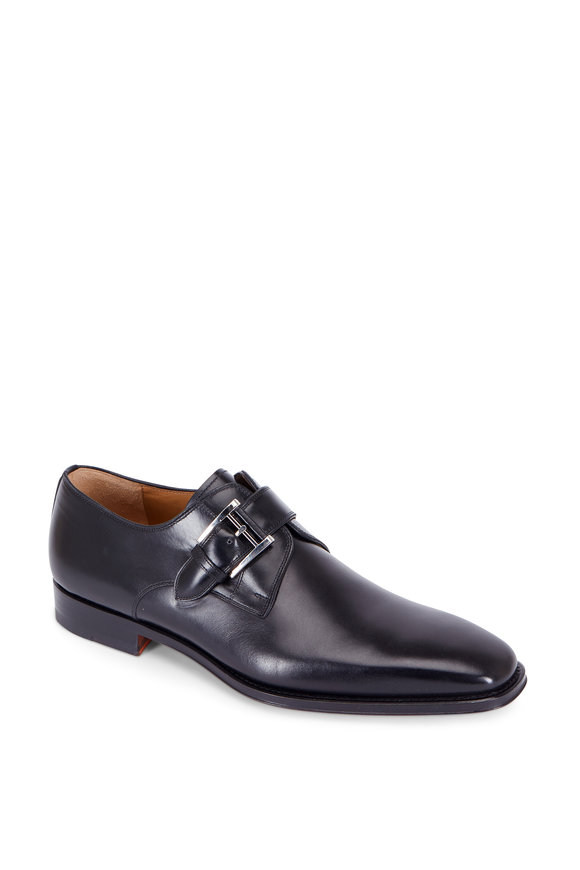 Magnanni Marco Black Leather Monk Strap Oxford