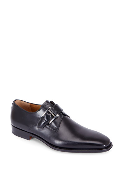 Magnanni - Marco Black Leather Monk Strap Oxford
