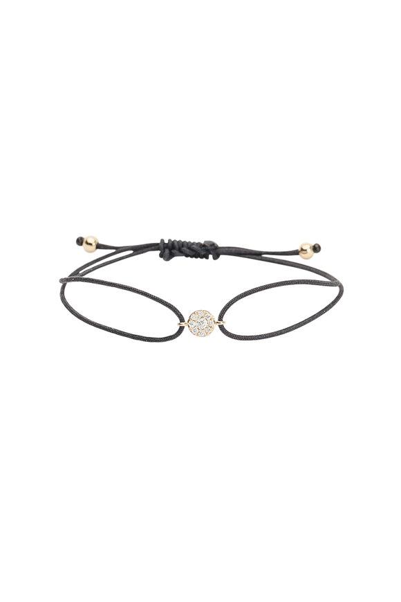 Kai Linz Yellow Gold Pavé Diamond Cord Bracelet