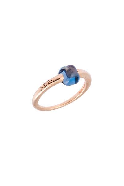 Pomellato - Rose Gold Blue Topaz Ring
