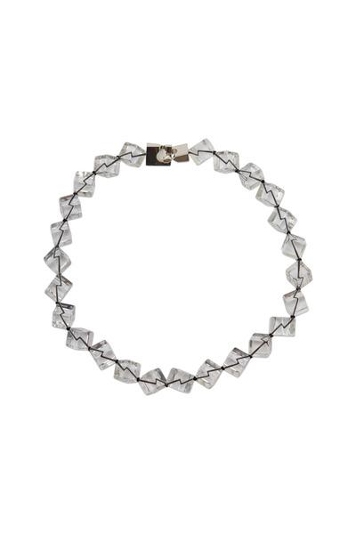 Patricia von Musulin - Sterling Silver Rock Crystal Cube Necklace