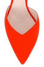 Nicholas Kirkwood - Penelope Red Suede Slingback, 85mm