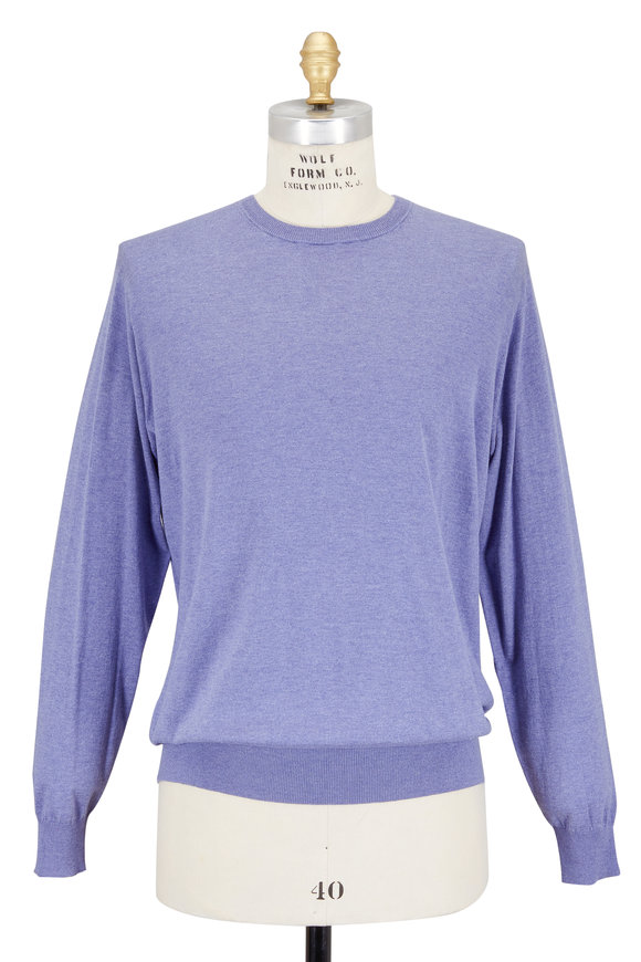 Peter Millar Antique Vine Cotton & Silk Crewneck Sweater
