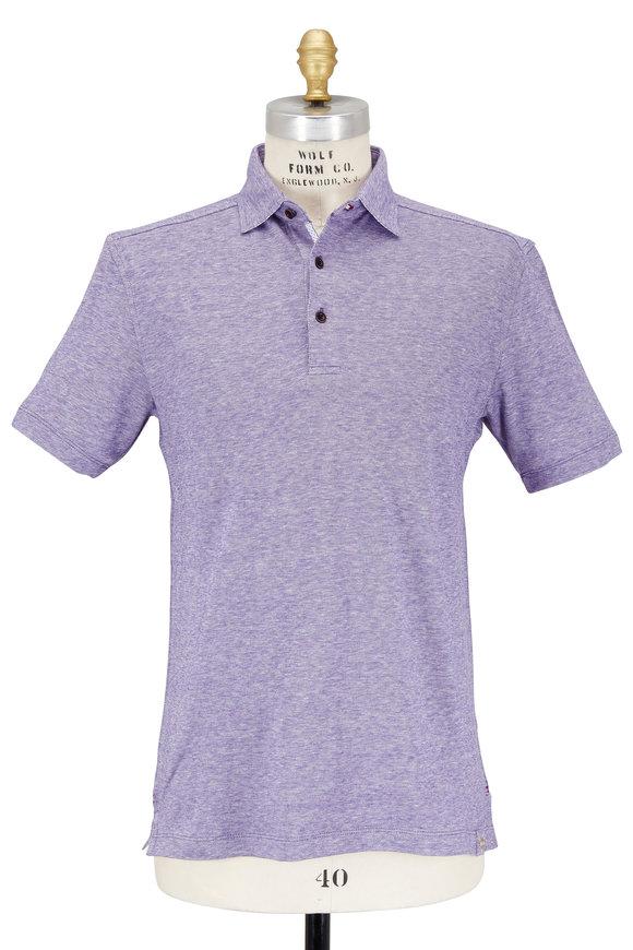 Thaddeus Apparel Purple Cotton & Linen Birdseye Polo