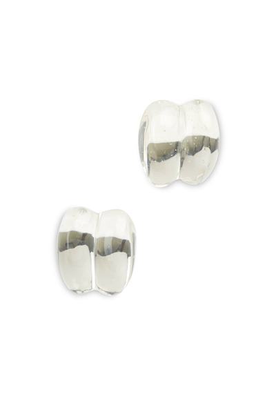 Patricia von Musulin - Sterling Silver Lucite Large Scroll Earrings