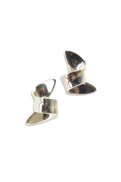 Patricia von Musulin - Sterling Silver Tiny Ribbon Earrings