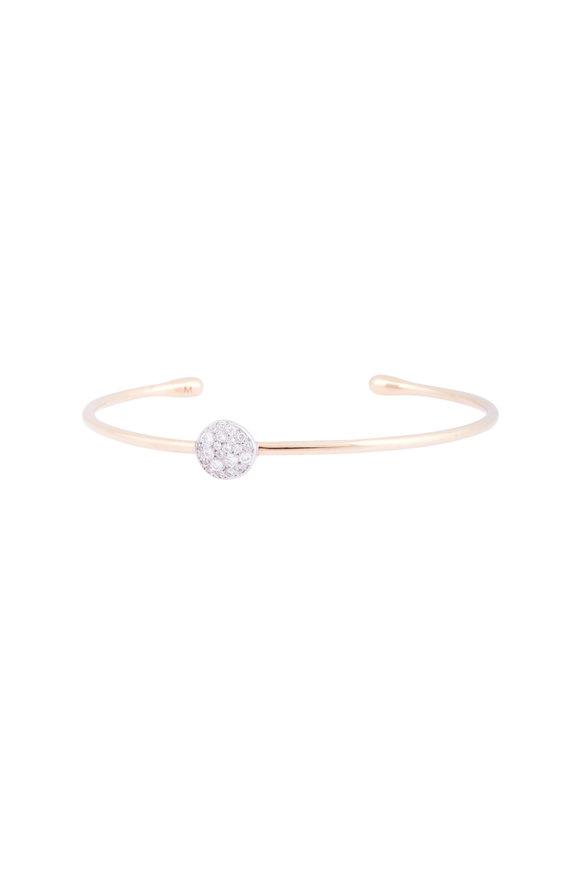 Pomellato 18K Rose Gold White Diamond Sabbia Bangle