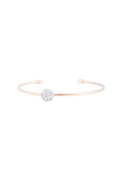 Pomellato - 18K Rose Gold White Diamond Sabbia Bangle