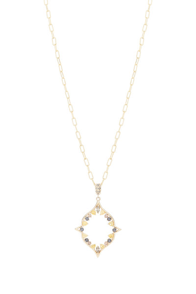 Genevieve Lau - 18K Yellow Gold Diamond & Sapphire Necklace