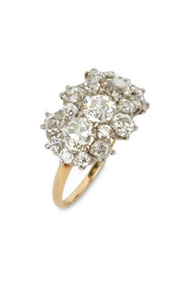 Fred Leighton - Old Mine Cluster Diamond Ring