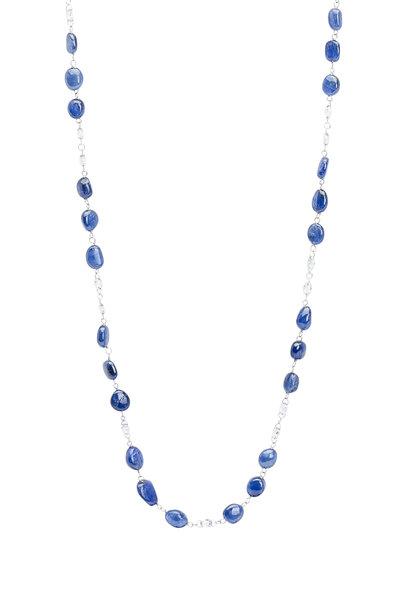 Ashley Morgan - 18K White Gold Sapphire & Diamond Brio Chain
