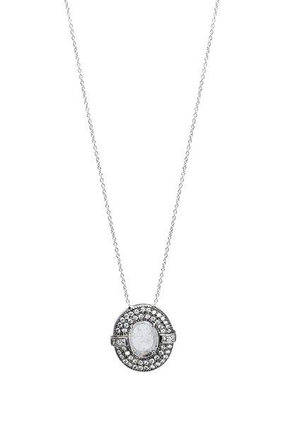 Ashley Morgan - 18K White Gold Diamond Pendant Necklace