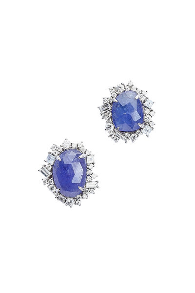 Ashley Morgan - Tanzanite & Diamond Cluster Earrings