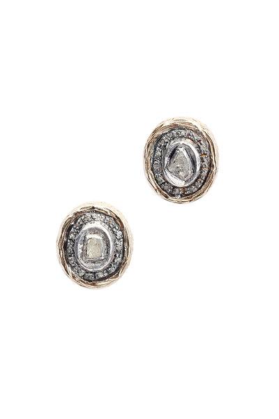 Ashley Morgan - Yellow Gold Turkish Diamond Earrings