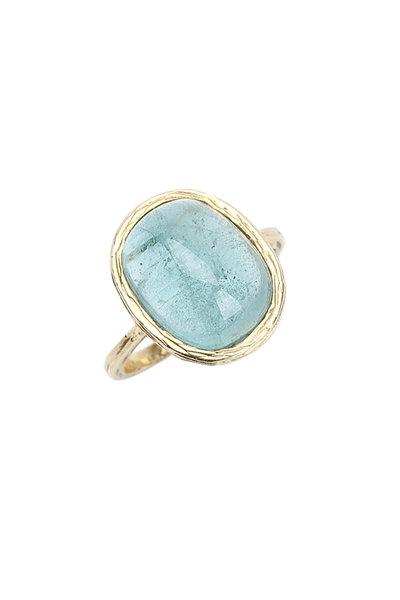 Ashley Morgan - 18K Yellow Gold Green Tourmaline Ring