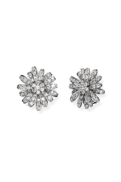 Aaron Henry - White Gold White Diamond Daisy Earrings