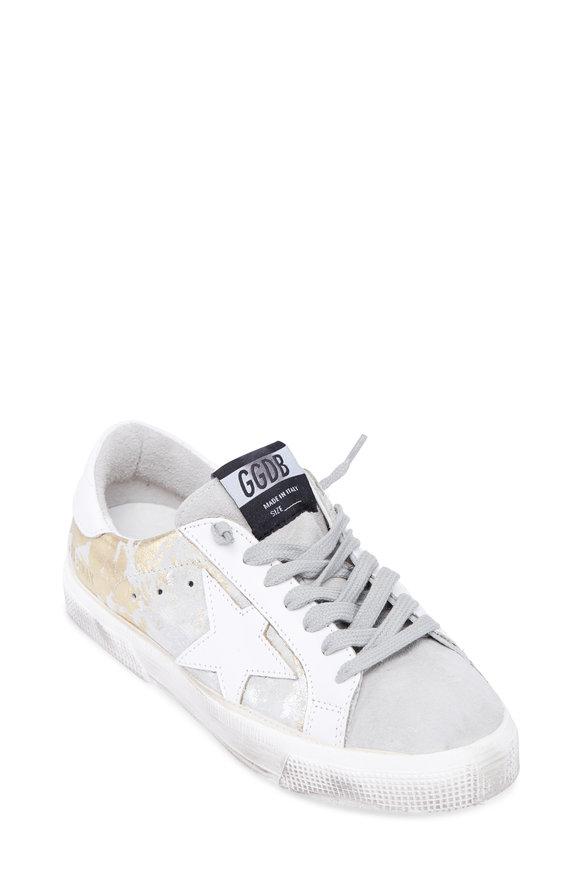 Golden Goose Women's May Horsy Lamé Low Top Sneaker