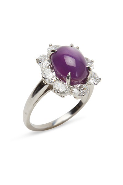 Oscar Heyman - Gold & Platinum Ruby Diamond Ring
