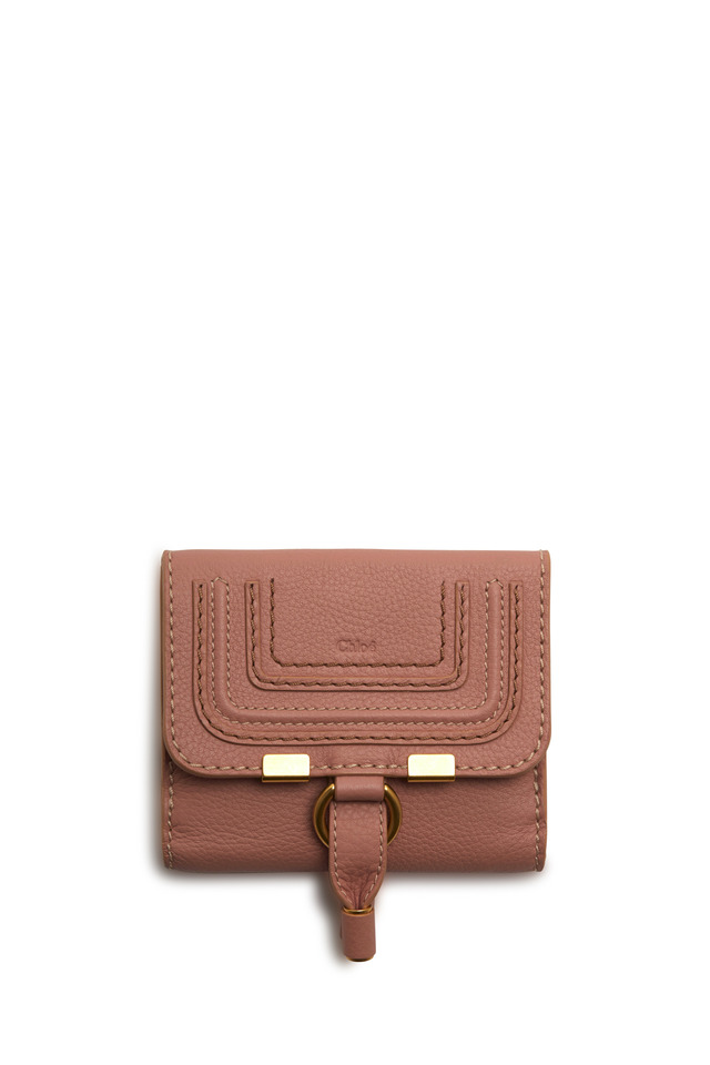 Marcie Anemone Pink Leather Square Wallet