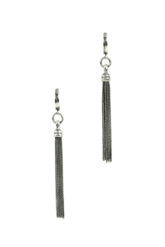 Kary Kjesbo Sterling Silver Tassel Earrings