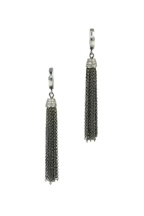 Kary Kjesbo Pavé Diamond Tassel Earrings