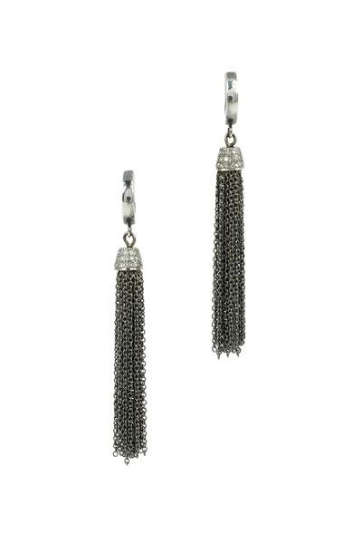 Kary Kjesbo - Pavé Diamond Tassel Earrings