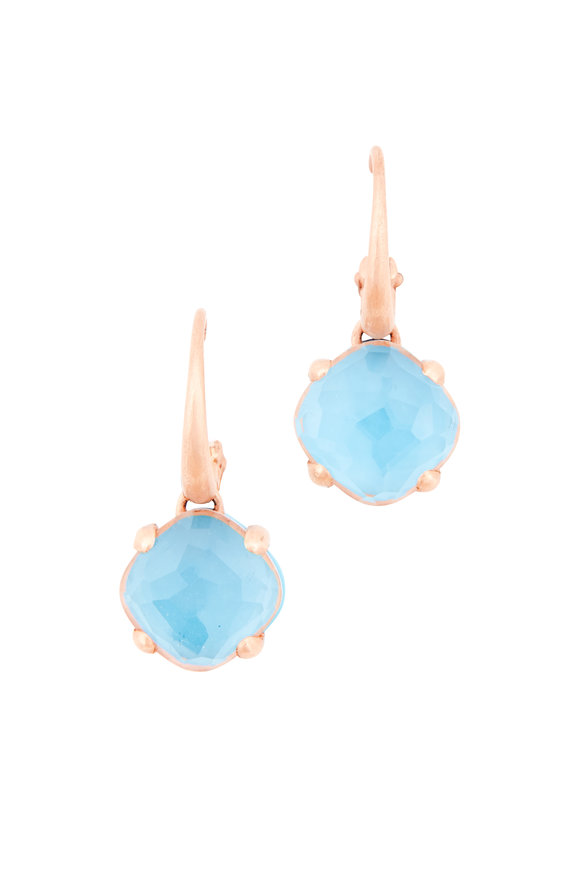 Pomellato Rose Gold Turquoise Capri Drop Earrings