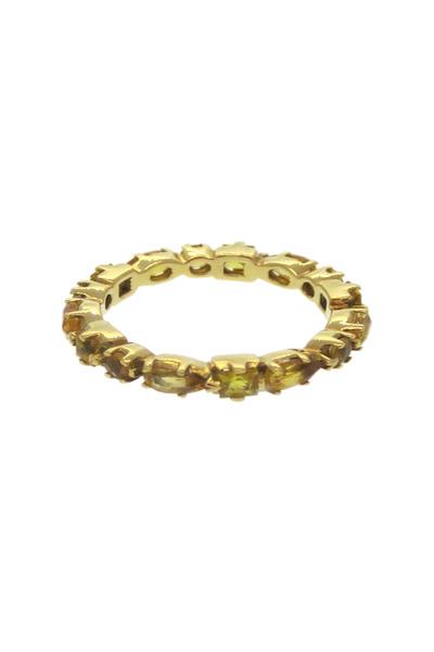Emily & Ashley - Gold Citrine Ruffle Ring