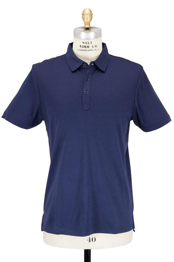 Raffi  Midnight Blue Aqua Cotton Polo