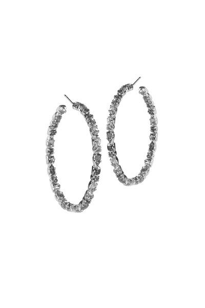 Emily & Ashley - Multi Sapphire Large Ruffle Hoop Earrings