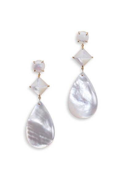 Emily & Ashley - Mother Of Pearl Three Drop Earrings