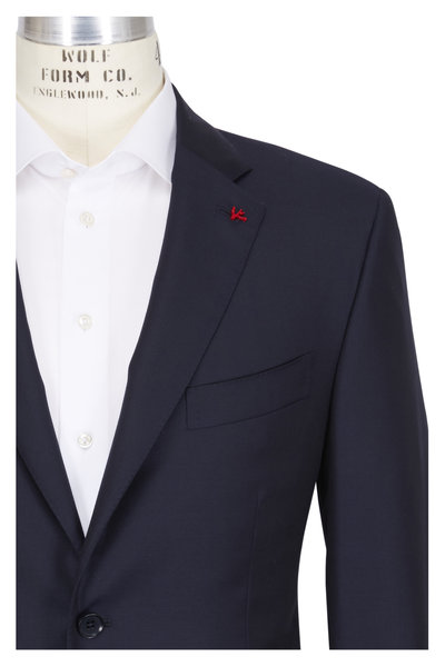 Isaia - Aquaspider Navy Wool Basic Suit