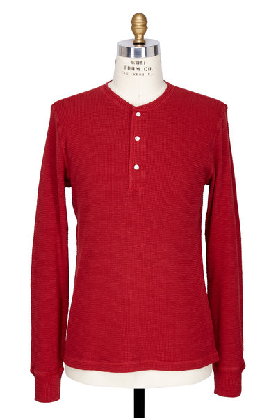 RRL - Red Thermal Long Sleeve Henley
