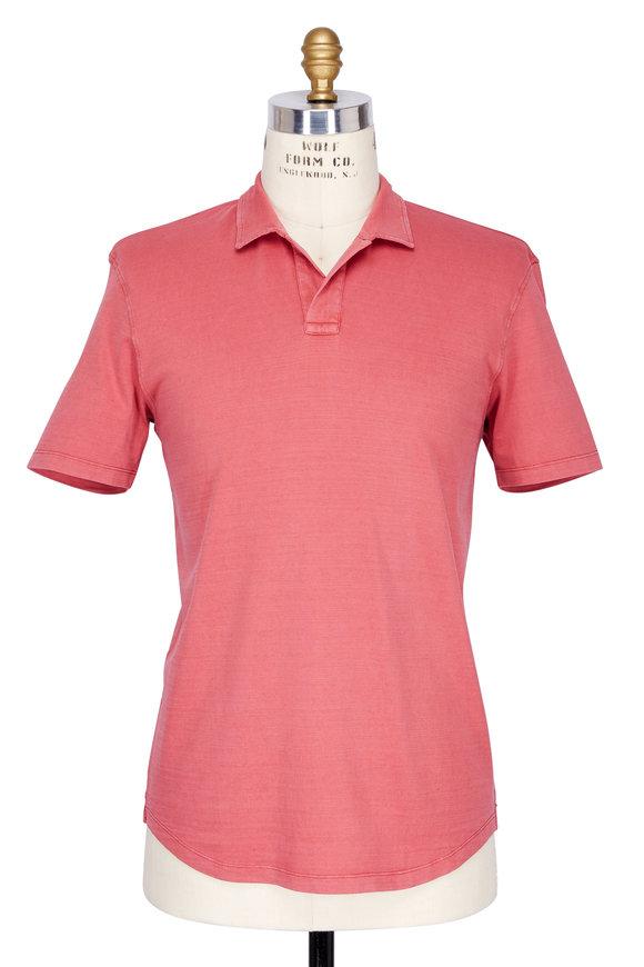 Orlebar Brown Pomodoro Red Slub Knit Polo