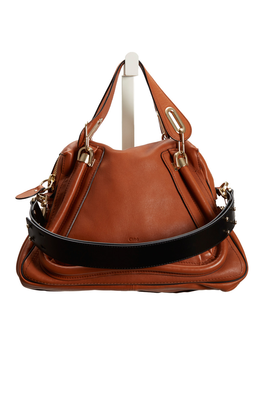 Tan Leather Medium Satchel