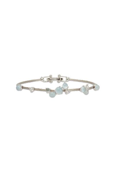 Paul Morelli - White Gold White Aqua Bauble Bracelet