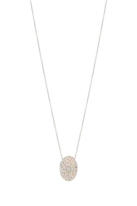 Todd Reed Palladium Gray & Autumn Diamond Necklace