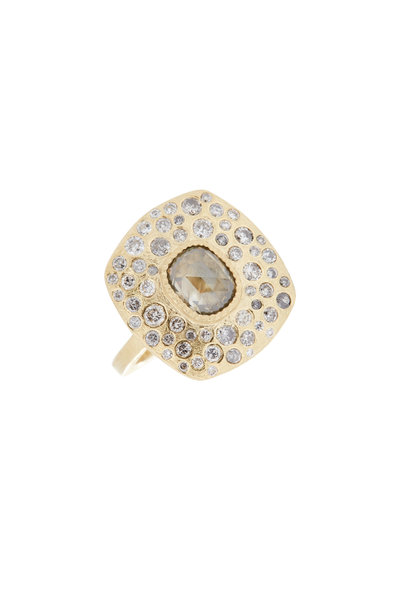 Todd Reed - 18K Yellow Gold Diamond Cocktail Ring