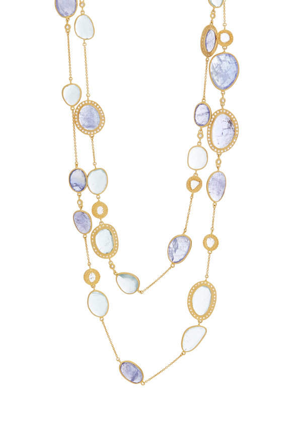 Coomi 20K Yellow Gold Tanzanite Affinity Necklace